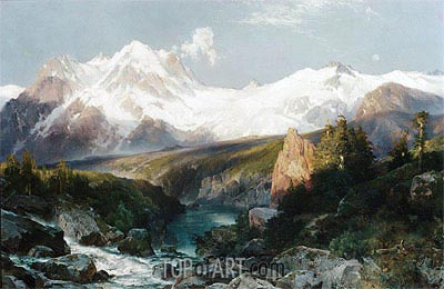 The Teton Range, 1897 | Thomas Moran | Painting Reproduction