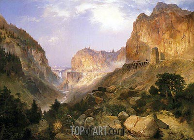 Golden Gate, Yellowstone National Park, 1893 | Thomas Moran| Painting Reproduction