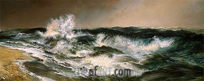 The Much Resounding Sea, 1884 | Thomas Moran| Gemälde Reproduktion