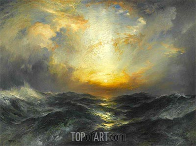 Sunset at Sea, 1906 | Thomas Moran | Gemälde Reproduktion