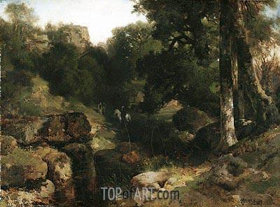 The Dell, 1878 | Thomas Moran | Gemälde Reproduktion