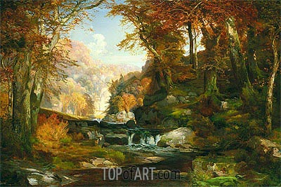 A Scene on the Tohickon Creek: Autumn, 1868 | Thomas Moran | Gemälde Reproduktion