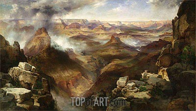 Grand Canyon of the Colorado River, c.1892/08 | Thomas Moran | Painting Reproduction