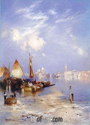 A View of Venice, 1891 | Thomas Moran | Gemälde Reproduktion