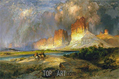 Cliffs of the Upper Colorado River, Wyoming Territory, 1882 | Thomas Moran| Painting Reproduction