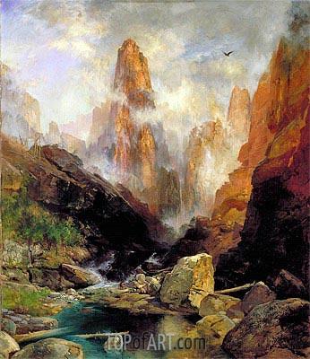 Thomas Moran | Mist in Kanab Canyon, Utah, 1892