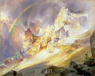 Rainbow over the Grand Canyon of the Yellowstone, 1900 | Thomas Moran | Painting Reproduction