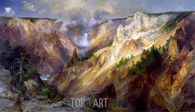 The Grand Canyon of the Yellowstone, c.1893/01 | Thomas Moran| Painting Reproduction