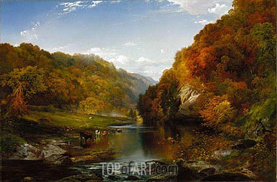 Autumn on the Wissahickon, 1864 | Thomas Moran | Painting Reproduction