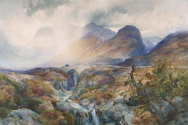 Pass at Glencoe, Scotland, 1882 | Thomas Moran | Gemälde Reproduktion