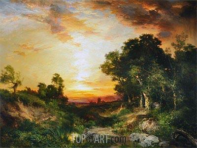 Sonnenuntergang, Amagansett, 1905 | Thomas Moran | Gemälde Reproduktion
