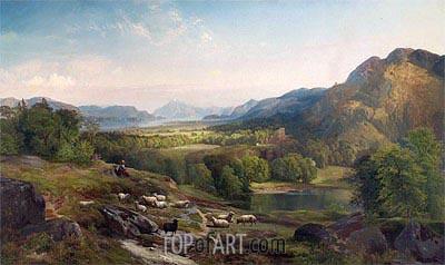 Thomas Moran | Shepherdess Watching Her Flock, c.1867