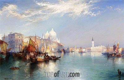 View of Venice, 1901 | Thomas Moran | Gemälde Reproduktion