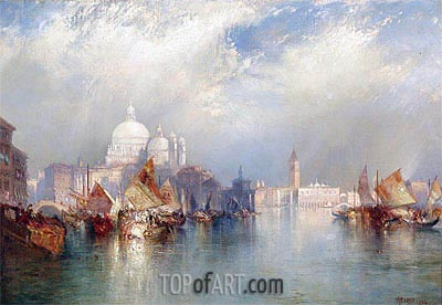 Venetian Scene, 1894 | Thomas Moran | Painting Reproduction