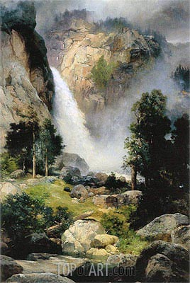Thomas Moran | Cascade Falls, Yosemite, 1905