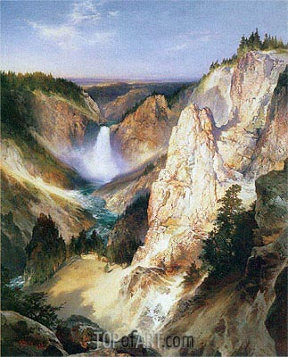 Great Falls of Yellowstone, 1898 | Thomas Moran | Gemälde Reproduktion