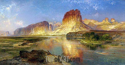 Green River of Wyoming, 1878 | Thomas Moran | Gemälde Reproduktion