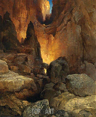 A Side Canyon, Grand Canyon of Arizona, 1915 | Thomas Moran | Painting Reproduction