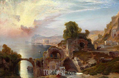 Bay of Baiae, Sunrise, 1867 | Thomas Moran | Painting Reproduction
