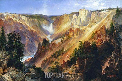 The Grand Canyon of the Yellowstone, c.1893/01 | Thomas Moran | Gemälde Reproduktion