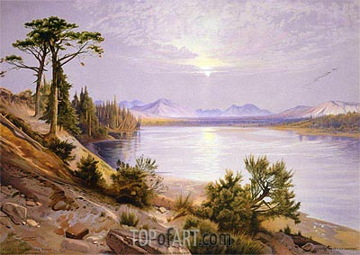 Head of the Yellowstone River, 1875 | Thomas Moran | Painting Reproduction