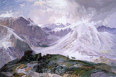 The Musquito Trail, Rocky Mountains of Colorado, 1875 | Thomas Moran | Gemälde Reproduktion