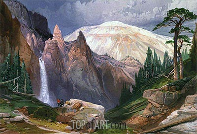 Tower Falls and Sulphur Mountain, 1875 | Thomas Moran | Gemälde Reproduktion