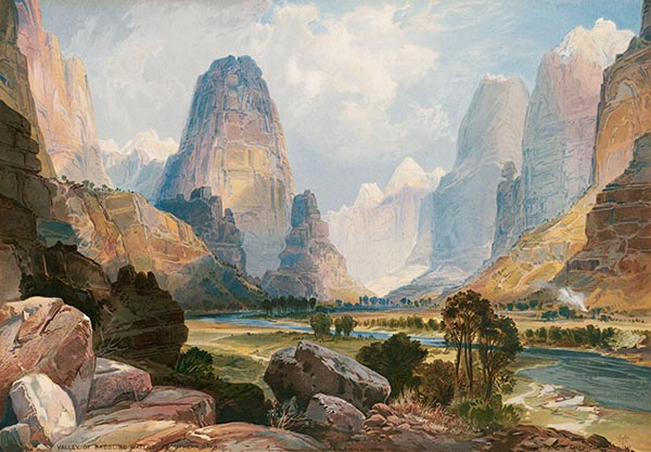 Valley of Babbling Waters, 1876 | Thomas Moran| Painting Reproduction