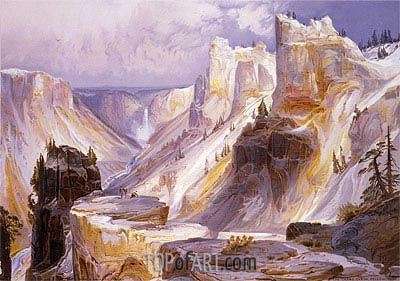 The Grand Canon, Yellowstone, 1875 | Thomas Moran| Painting Reproduction