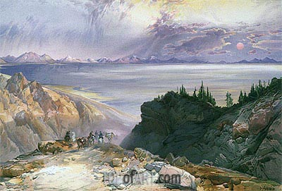 The Great Salt Lake of Utah, 1875 | Thomas Moran | Painting Reproduction