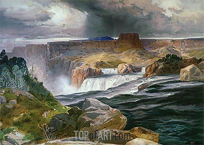 Great Falls of Snake River, 1876 | Thomas Moran| Painting Reproduction