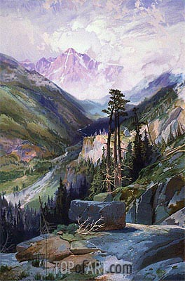 The Mountain of the Holy Cross, Colorado, c.1875 | Thomas Moran| Painting Reproduction