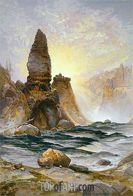 The Towers of Tower Falls, Yellowstone, 1875 | Thomas Moran | Painting Reproduction