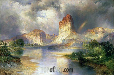 Cliffs of Green River, Wyoming, c.1909/10 | Thomas Moran | Gemälde Reproduktion