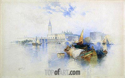 Basin of San Marco, 1897 | Thomas Moran | Painting Reproduction