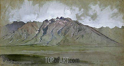 The Ruby Range, Nevada, 1879 | Thomas Moran | Painting Reproduction