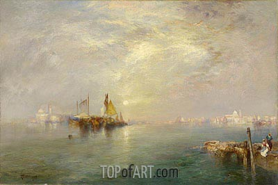 Morning, Outskirts of Venice, 1907 | Thomas Moran | Painting Reproduction
