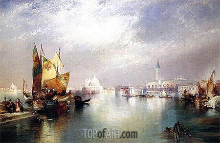 The Splendor of Venice, 1897 | Thomas Moran | Gemälde Reproduktion