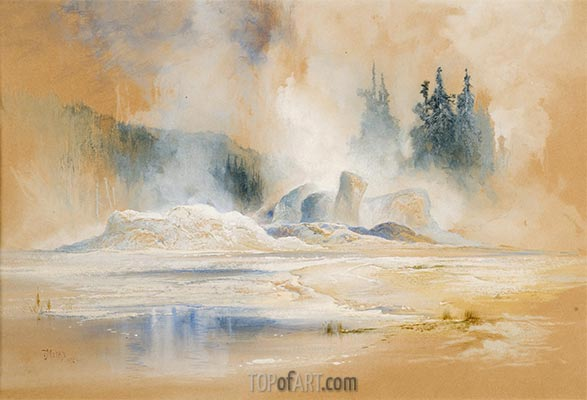 The Grotto Geyser, Firehole Basin, 1872 | Thomas Moran | Gemälde Reproduktion