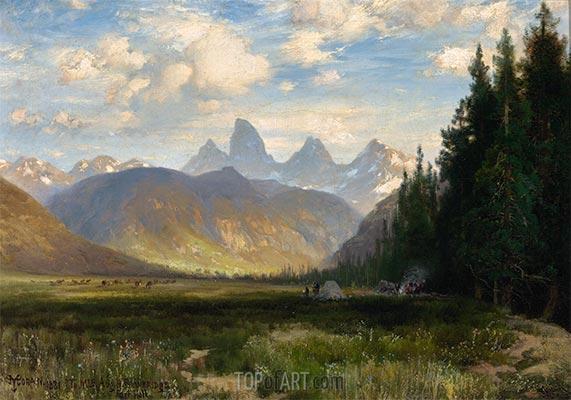 Die drei Tetone, 1881 | Thomas Moran | Gemälde Reproduktion