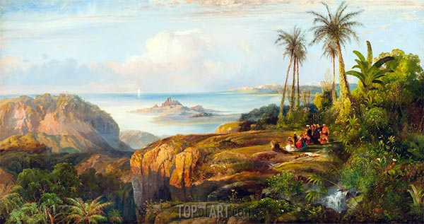 Columbus Approaching San Salvadore, 1860 | Thomas Moran | Painting Reproduction