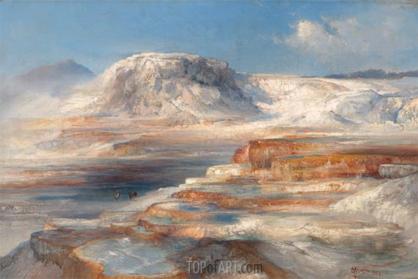 Great Hot Springs Yellowstone Park, 1893 | Thomas Moran | Painting Reproduction