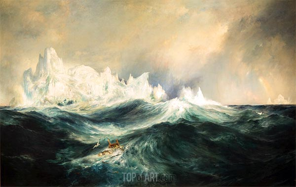 Icebergs in Mid-Atlantic, 1890 | Thomas Moran | Painting Reproduction