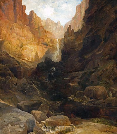 Side Canyon of the Colorado, 1878 | Thomas Moran | Painting Reproduction