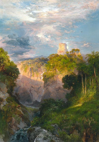 Cortez Tower, Mexico, 1883 | Thomas Moran | Painting Reproduction