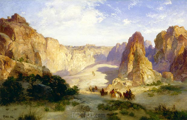The Rocks of Acoma, 1904 | Thomas Moran | Painting Reproduction