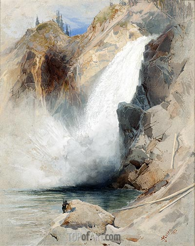 The Upper Falls of the Yellowstone, 1872 | Thomas Moran | Painting Reproduction