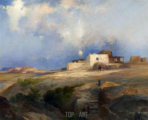 Laguna Pueblo, 1919 | Thomas Moran | Painting Reproduction