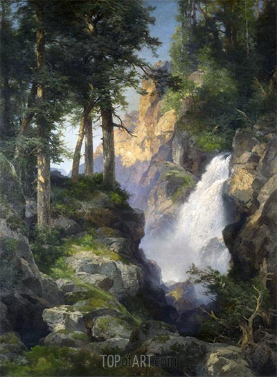 Falls at Toltec Gorge, 1913   Thomas Moran   Painting Reproduction