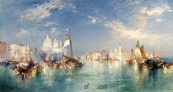 Venedig, 1898 | Thomas Moran | Gemälde Reproduktion